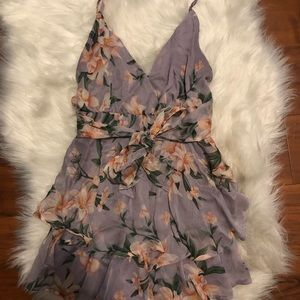 American Threads Floral Romper Small